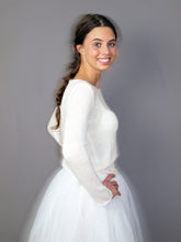Load image into Gallery viewer, Bridal knit sweater for your bridal gown ivory