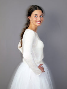 Bridal knit sweater for your bridal gown ivory