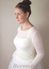 Load image into Gallery viewer, Bridal pullover in ivory for Boho and Vintage wedding