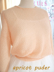 Wedding knit pullover apricot powder for your bridal gown