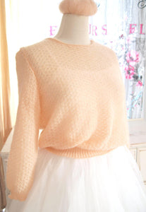 Wedding sweater apricot powder knitted for brides