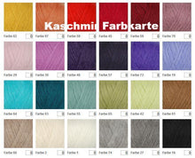 Load image into Gallery viewer, Colour chart cashmere for bridal jacket lace