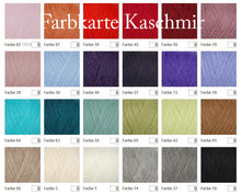 Load image into Gallery viewer, Colour Chart cashmere silk for your bridal stole