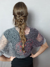 Load image into Gallery viewer, Gray knit bolero for jeans or evening dress knitted from beemohr