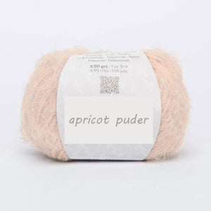 Bridal knit loop apricot powder