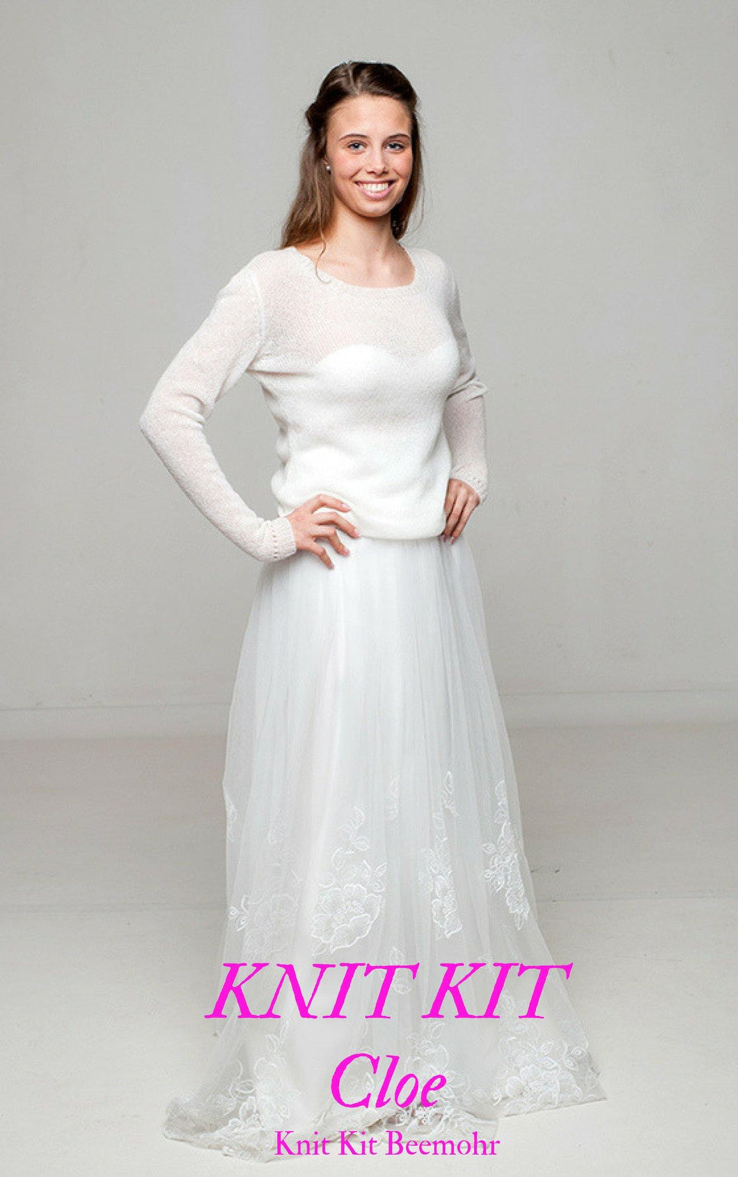 Wedding pullover cashmere and silk for bridal skirts