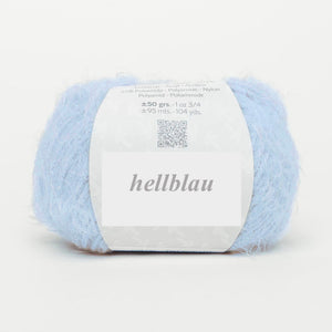 fluffy light blue wool