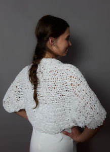Bridal bolero jacket in white for weddings
