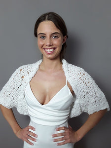 Knit Bolero HEIDI with short sleeve soft and cozy made for brides