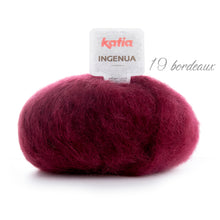 Load image into Gallery viewer, Knitting a chunky sweater with ingenua mohair from katia bordeaux 19