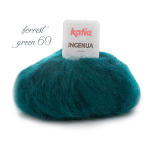 soft mohair Katia for cozy handknitted sweater