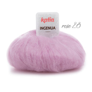 Mohair wool for knitted sweater in oversize rose