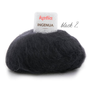 Knitting Kit: Cosy knit pullover made of mohair ingenua from Katia wool black