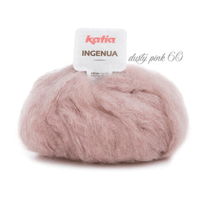 Mohair wool for knit pullover dusty pink