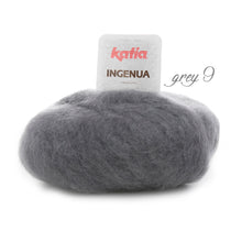 Load image into Gallery viewer, DIY: Stole knitted with mohair ingenua from katia pale dark grey