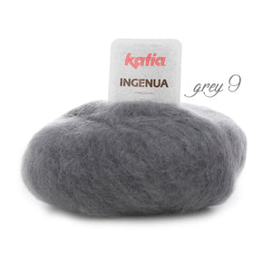 DIY: Stole knitted with mohair ingenua from katia pale dark grey