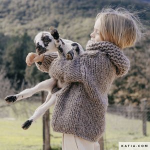 Ingenious big wool from katia for a kids sweater