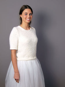 Knit bridal couture white and ivory for your bridal gown