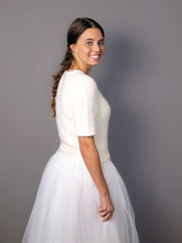 Load image into Gallery viewer, Knit bridal couture white and ivory for your bridal gown