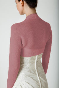 Cashmere knit bolero berry for wedding dresses