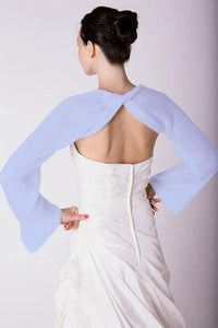 Bridal bolero made of cashmere for your bridal gown pale blue