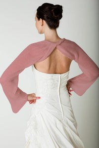 Bridal bolero made of cashmere for your bridal gown berry