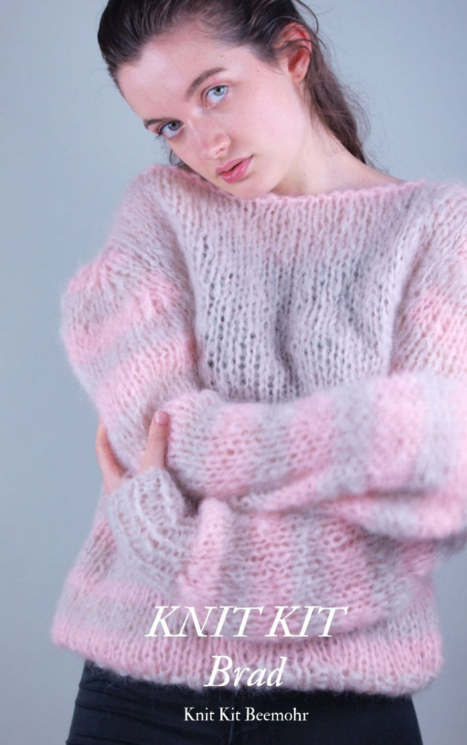 Knit Kit: Chunky knit sweater BRAD made with cosy Ingenua Mohair from Katia
