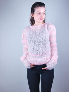 oversize knit sweater made of soft mohair beige