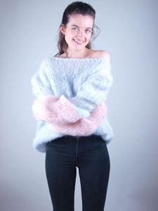 Knit sweater in cosy mohair order online