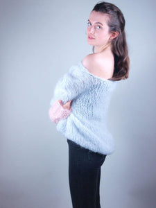 Knit sweater in cosy mohair loose