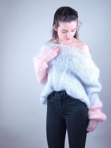 corona order online Knit sweater in cosy mohair
