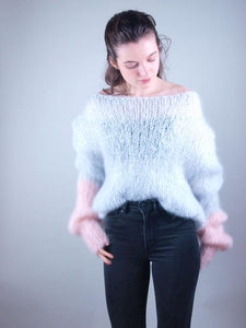 corona times Knit sweater in cosy mohair