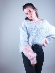 Knit sweater in cosy wool for christmas