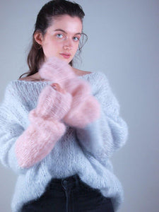 corona Knit sweater in cosy mohair grey