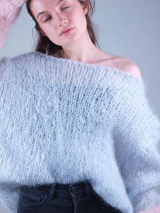 Knit pullover in cosy mohair order corona