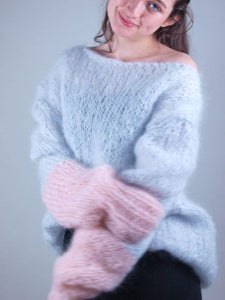 Knit sweater in cosy mohair