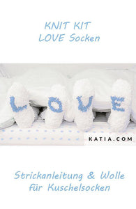 Knitting Love Socks with free instruction