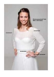 Wedding pullover knitted for your wedding skirt or wedding dress
