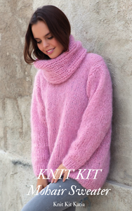 Cozy knit sweater mohair for knitting yourself