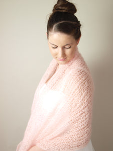 knit pashmina for brides & skirts