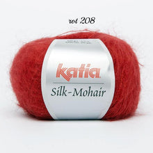 Load image into Gallery viewer, Crochet Box: mohair lace scarf made with soft kid mohair silk from Katia