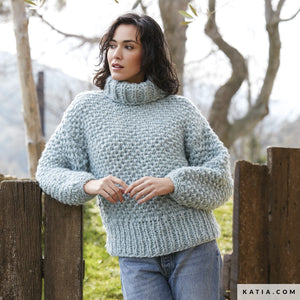 Ingenious big wool from katia for knitting a big sweater