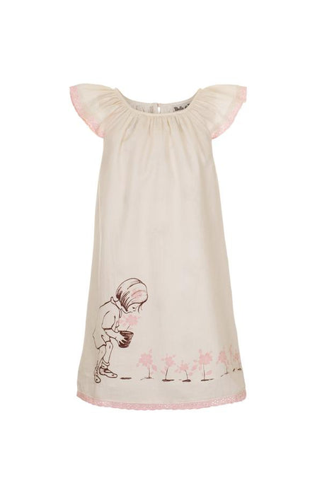 Summer dress for girls in cream