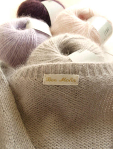 Angora wool from lany yarns with silk white light grey