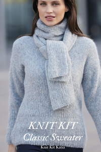 Longpulli to knit yourself in Stay at home times order online
