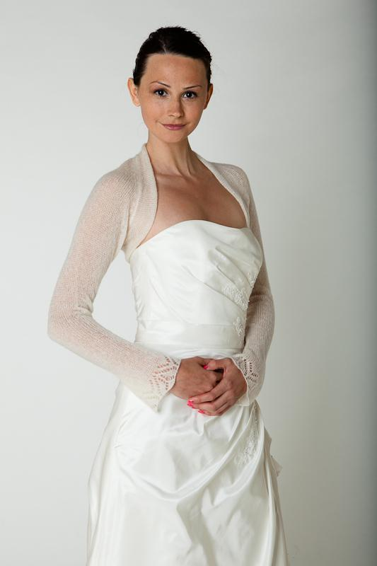 Bridal cashmere jacket knitted for your wedding