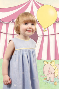 Girls dress in pale blue 1 to 5 years