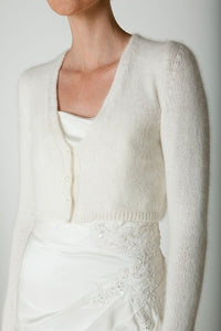 wedding cardigan: knitting pattern and wool for your bridal jacket