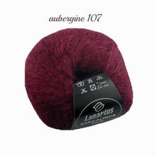 Load image into Gallery viewer, Baby Alpaca with silk from lanartus for knitting bolero jackets dark red