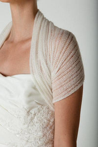 Bridal stole knitted for your wedding dress or skirt ivory